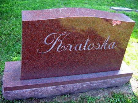 KRATOSKA, FAMILY STONE - Linn County, Iowa | FAMILY STONE KRATOSKA