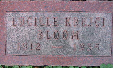 KREJCI BLOOM, LUCILLE - Linn County, Iowa | LUCILLE KREJCI BLOOM