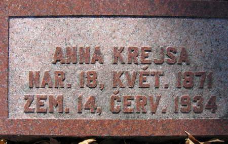 KREJSA, ANNA - Linn County, Iowa | ANNA KREJSA
