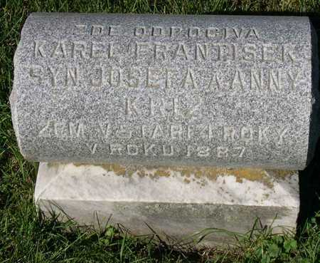KRIZ, KAREL FRANTISEK - Linn County, Iowa | KAREL FRANTISEK KRIZ