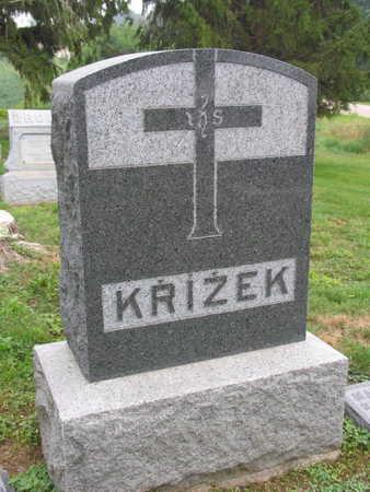 KRIZEK, FAMILY STONE - Linn County, Iowa | FAMILY STONE KRIZEK