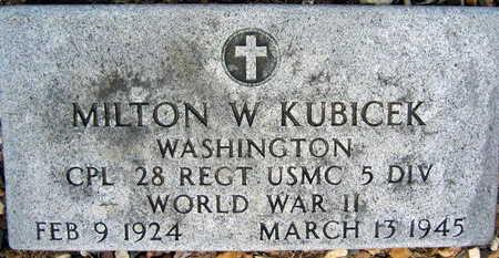 KUBICEK, MILTON W. - Linn County, Iowa | MILTON W. KUBICEK