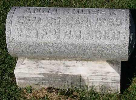 KULISEK, ANNA - Linn County, Iowa   ANNA KULISEK