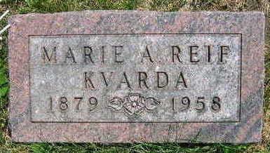 REIF KVARDA, MARIE A. - Linn County, Iowa | MARIE A. REIF KVARDA