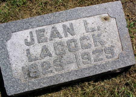 LACOCK, JEAN L. - Linn County, Iowa | JEAN L. LACOCK