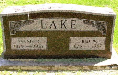 LAKE, FANNIE D. - Linn County, Iowa | FANNIE D. LAKE