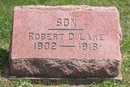 LAKE, ROBERT D. - Linn County, Iowa   ROBERT D. LAKE