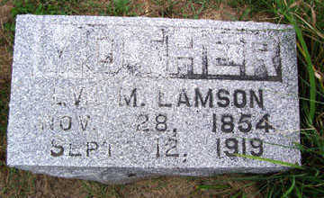 LAMSON, EVA M. - Linn County, Iowa | EVA M. LAMSON