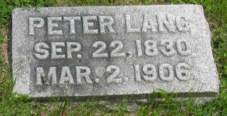 LANG, PETER - Linn County, Iowa | PETER LANG