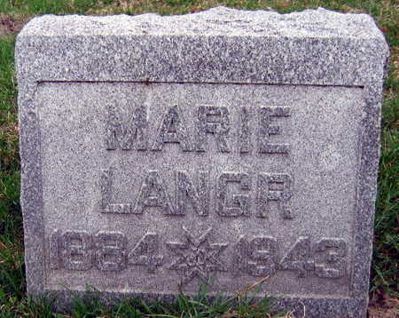 LANGR, MARIE - Linn County, Iowa | MARIE LANGR