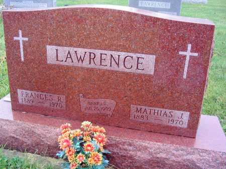 LAWRENCE, FRANCES R. - Linn County, Iowa | FRANCES R. LAWRENCE