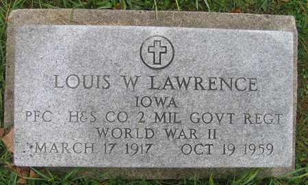LAWRENCE, LOUIS W. - Linn County, Iowa | LOUIS W. LAWRENCE