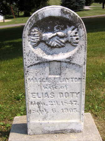 LAYTON DOTY, MAGGIE E. - Linn County, Iowa | MAGGIE E. LAYTON DOTY