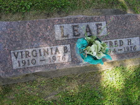 LEAF, FRED H. - Linn County, Iowa | FRED H. LEAF