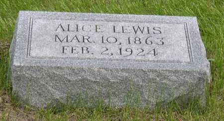 LEWIS, ALICE - Linn County, Iowa | ALICE LEWIS