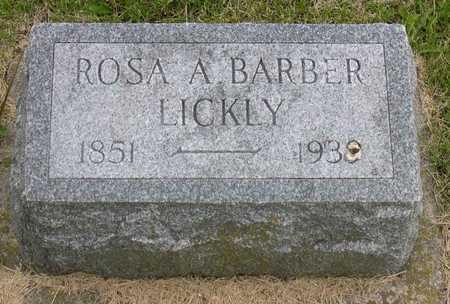 BARBER LICKLY, ROSA A. - Linn County, Iowa | ROSA A. BARBER LICKLY