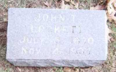 LOCKETT, JOHN T. - Linn County, Iowa | JOHN T. LOCKETT