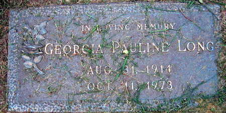 LONG, GEORGIA PAULINE - Linn County, Iowa | GEORGIA PAULINE LONG