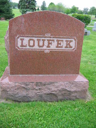 LOUFEK, FAMILY STONE - Linn County, Iowa | FAMILY STONE LOUFEK
