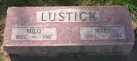LUSTICK, MARY - Linn County, Iowa | MARY LUSTICK