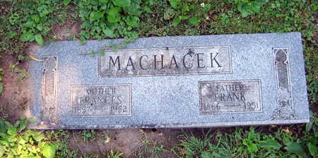 MACHACEK, FRANCES - Linn County, Iowa | FRANCES MACHACEK