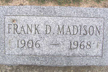 MADISON, FRANK D. - Linn County, Iowa | FRANK D. MADISON