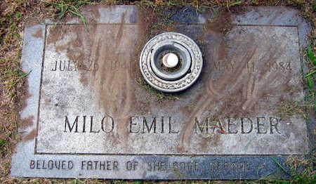 MAEDER, MILO EMIL - Linn County, Iowa | MILO EMIL MAEDER
