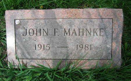 MAHNKE, JOHN F. - Linn County, Iowa | JOHN F. MAHNKE