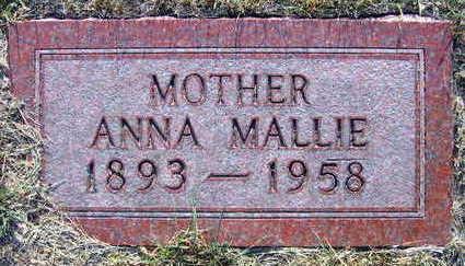 MALLIE, ANNA - Linn County, Iowa   ANNA MALLIE