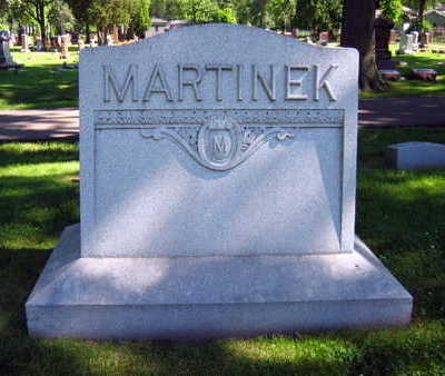 MARTINEK, FAMILY STONE - Linn County, Iowa   FAMILY STONE MARTINEK