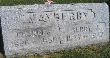 MAYBERRY, FRANCES - Linn County, Iowa | FRANCES MAYBERRY