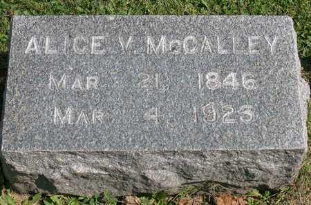 MCCALLEY, ALICE V. - Linn County, Iowa | ALICE V. MCCALLEY