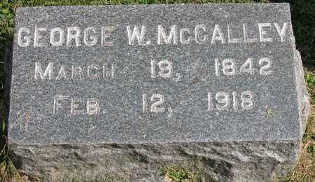 MCCALLEY, GEORGE W. - Linn County, Iowa   GEORGE W. MCCALLEY