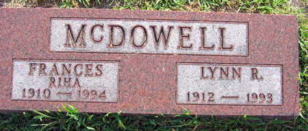 MCDOWELL, FRANCES - Linn County, Iowa | FRANCES MCDOWELL
