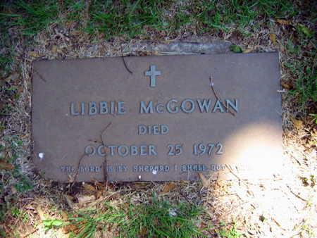 MCGOWAN, LIBBIE - Linn County, Iowa | LIBBIE MCGOWAN