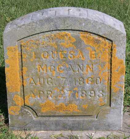 MCCANN, LOUESA E. - Linn County, Iowa | LOUESA E. MCCANN