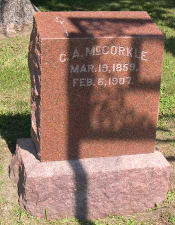 MCCORKLE, C. A. - Linn County, Iowa   C. A. MCCORKLE