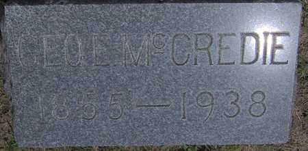 MCCREDIE, GEO E - Linn County, Iowa | GEO E MCCREDIE