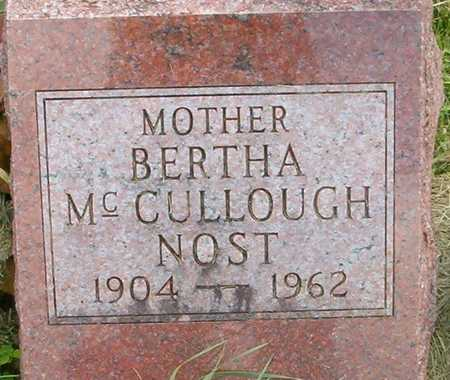 NOST MCCULLOUGH, BERTHA - Linn County, Iowa | BERTHA NOST MCCULLOUGH