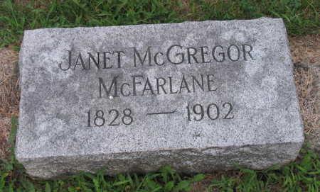 MCGREGOR MCFARLANE, JANET - Linn County, Iowa | JANET MCGREGOR MCFARLANE