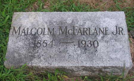 MCFARLANE, MALCOLM JR. - Linn County, Iowa | MALCOLM JR. MCFARLANE