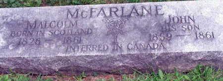 JOHN MCFARLANE, MALCOLM - Linn County, Iowa | MALCOLM JOHN MCFARLANE