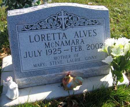 ALVES MCNAMARA, LORETTA - Linn County, Iowa | LORETTA ALVES MCNAMARA