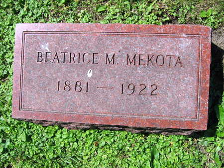 MEKOTA, BEATRICE M. - Linn County, Iowa | BEATRICE M. MEKOTA