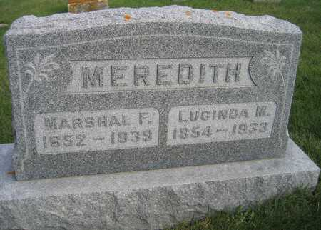 MEREDITH, MARSHAL F. - Linn County, Iowa | MARSHAL F. MEREDITH