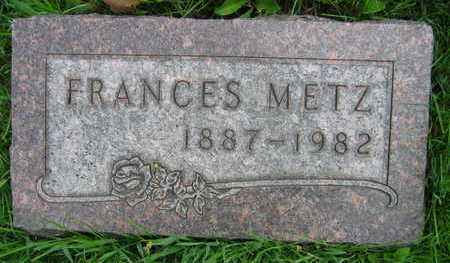 METZ, FRANCES - Linn County, Iowa | FRANCES METZ