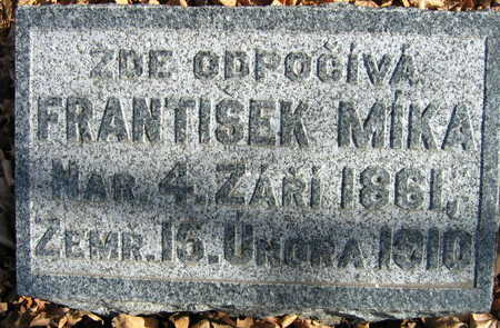 MIKA, FRANTISEK - Linn County, Iowa | FRANTISEK MIKA