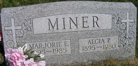 MINER, MARJORIE E. - Linn County, Iowa | MARJORIE E. MINER