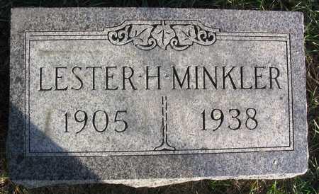 MINKLER, LESTER H. - Linn County, Iowa | LESTER H. MINKLER