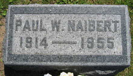 NAIBERT, PAUL W. - Linn County, Iowa   PAUL W. NAIBERT